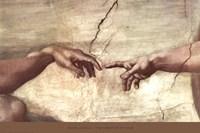 Creation of Adam (hands detail) Framed Print