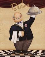 Waiter - Diner Framed Print