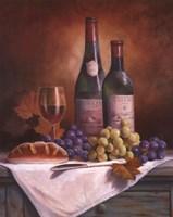 Wine & Grape II Framed Print
