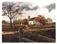 Autumn Cascade - Autumn Barn Framed Print