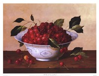 Still Life With Cherries Framed Print