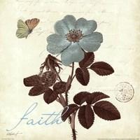 Touch of Blue II- Faith Framed Print