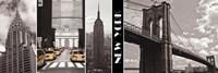 A Glimpse of NY Framed Print