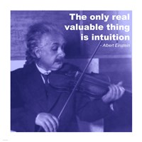 Einstein Intuition Quote Framed Print