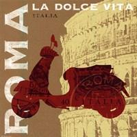 Motoring in Rome Framed Print
