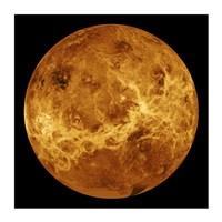 Venus Globe Framed Print