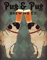 Pug and Pug Brewing Framed Print