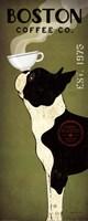 Boston Terrier Coffee Co Framed Print