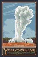 Old Faithful Yellowstone Park Ad Framed Print