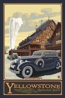 Old Faithful Inn Yellowstone Ad Framed Print