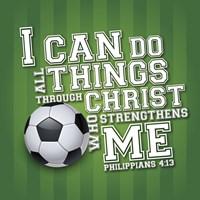 I Can Do All Sports - Soccer Framed Print