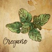 Oregano on Burlap Framed Print