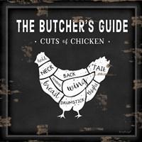 Butcher's Guide Chicken Framed Print