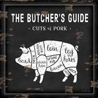 Butcher's Guide Pig Framed Print