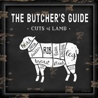 Butcher's Guide Lamb Framed Print