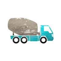 Truck With Paint Texture - Part IV Framed Print